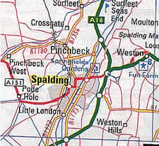 map of the spalding area